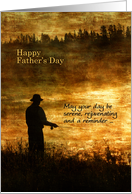 Father's Day Fisherman Fishing on a Golden Pond card