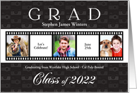 Graduation Party Class of 2018 Film Strip Style 3 Photos Custom card