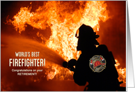 Congratulations Fire Fighter Retirement card
