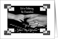 Father's Day Luncheon Invitation Baby and Dad Hands card