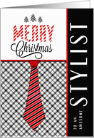 For the Stylist at Christmas Masculine Sporty Theme card