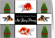from Our House to Yours Persian New Year Goldfish and Grasses card