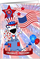 Happy 4th of July Patriotic Cat card