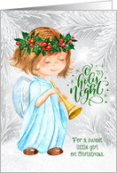 for a Little Angel on Christmas Country Patchwork card