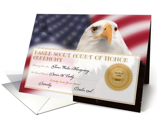 Eagle Scout Court of Honor Ceremony Invitation Custom card (959257)