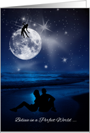 Romantic Chinese Mid Autumn Moon Festival Couple card