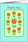 Thank You, General, Rainbow Flowers, blank card