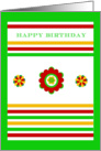 Happy Birthday, Mexican Celebration, blank inside card