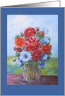Mother, Happy Birthday, Still Life, Oil Painting Reproduction card