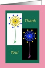 adult, Thank You! Two Flowers, Humor card