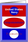 Congratulations, US Navy Promotion card
