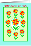 4H Project, Congratulations!, Rainbow Flowers card
