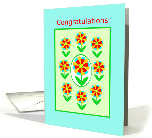 White Coat Ceremony, Congratulations!, Rainbow Flowers card (1041325)