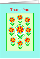 For Coming to My Party, Thank You, Rainbow Flowers card
