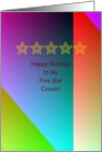 Five Star Cousin Birthday card