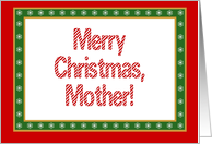 Mother, Merry Christmas-Happy New Year card