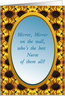 From All of Us,Happy Nurses Day, Mirror,Mirror card