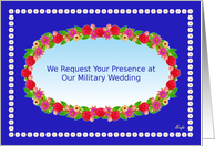 Our Military Wedding Party Invitation,Flower Garden Wreath card