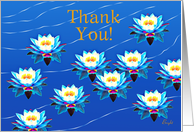 Thank You!, Water Lilies Floating On A Pond card