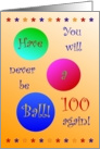 Husband, 100, Happy Birthday, Have A Ball! card