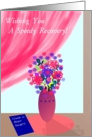 Major Surgery, Speedy Recovery, Floral Still Life card