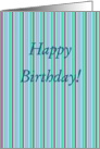 From Both of Us, Happy Birthday! Pin Stripes card