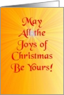 Birthday Wishes and Joys of Christmas card