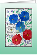 Congratulations, Military Wedding, Red, White and Blue Garden card