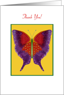 Volunteer, Thank You, Butterfly Collection card