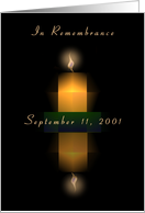 Sept. 11, 2001, Candle and Flame card