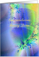 Congratulations, Beauty Queen, Compliments card