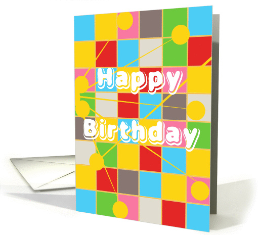 Happy Birthday, Business, Co-Worker, Squares with Connections card