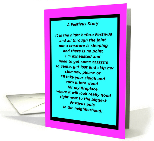 Happy Festivus, The Holiday for the Rest of Us, humor card (948489)