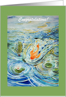 Congratulations! You Caught Your First Fish card