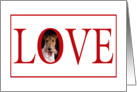 Valentine's Love Greeting - featuring a Wire Fox Terrier card
