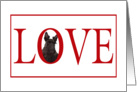 Valentine's Love Greeting - featuring a Scottish Terrier Puppy card