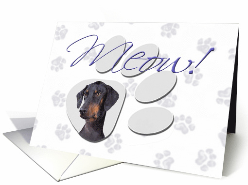 April Fool's Day Greeting - featuring a Doberman Pinscher... (777064)