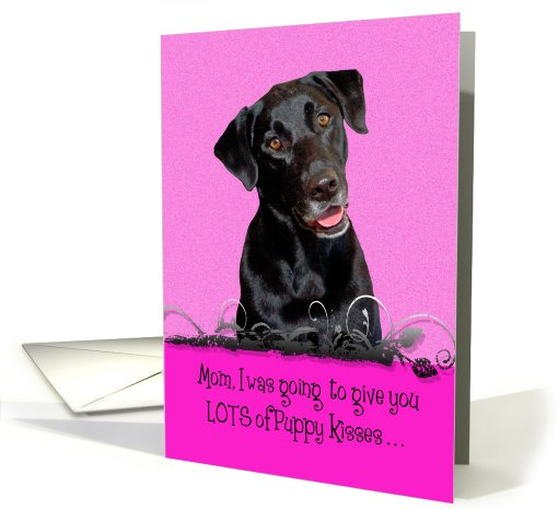Mother's Day Licker License - featuring a black Labrador... (802657)