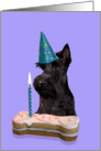 Birthday Card featuring a black Scottish Terrier card