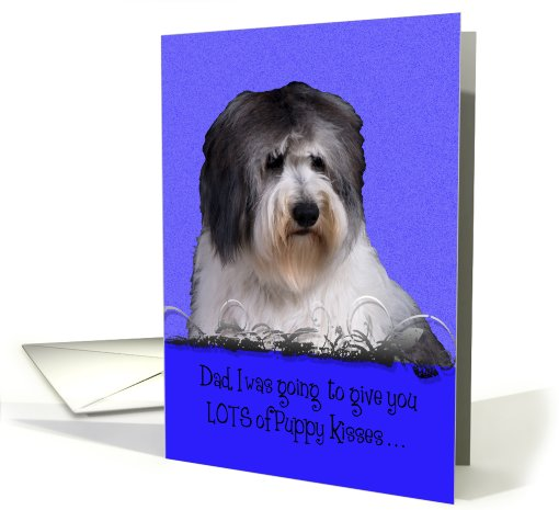 Father's Day Licker License - featuring a Polish Lowland Sheepdog card