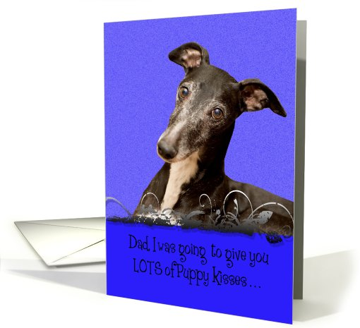 Father's Day Licker License - featuring a Whippet card (818896)