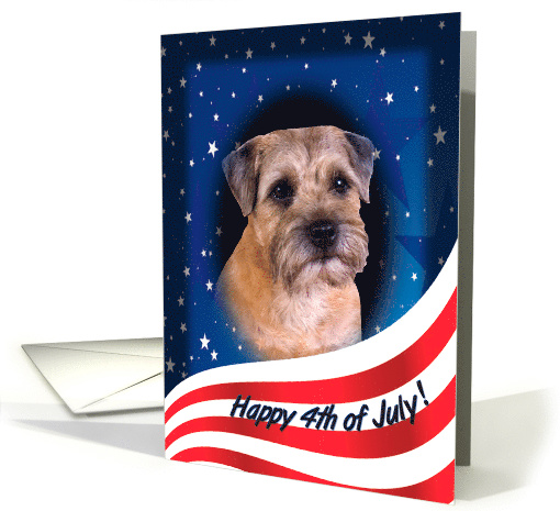 July 4th Card - featuring a Border Terrier card (819436)