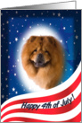July 4th Card - featuring a Chow Chow card