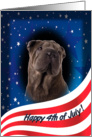 July 4th Card - featuring a Chnese Shar-Pei card