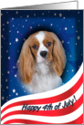 July 4th Card - featuring a Cavalier King Charles Spaniel card