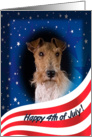 July 4th Card - featuring a Wire Fox Terrier card