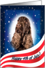 July 4th Card - featuring a liver English Cocker Spaniel card