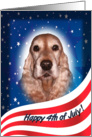 July 4th Card - featuring a gold English Cocker Spaniel card