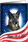 July 4th Card - featuring a German Shepherd Dog card