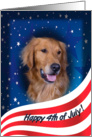 July 4th Card - featuring a Golden Retriever card